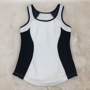 Lululemon White & Black Tank Top
